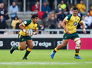 Australia prop Tyrel Lomax runs at the England defence during the World Rugby U20 Championship  match England U20 -V- Australia U20 at The AJ Bell Stadium, Salford, Greater Manchester, England on June  15  2016, (Steve Flynn/Image of Sport)