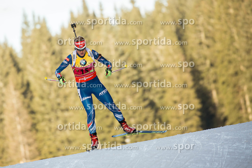 Gabriela Soukalova (CZE) competes during Women 7,5 km Sprint at day 2 of IBU Biathlon World Cup 2015/16 Pokljuka, on December 18, 2015 in Rudno polje, Pokljuka, Slovenia. Photo by Vid Ponikvar / Sportida