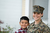 Marine Sarah and  Son Gabe