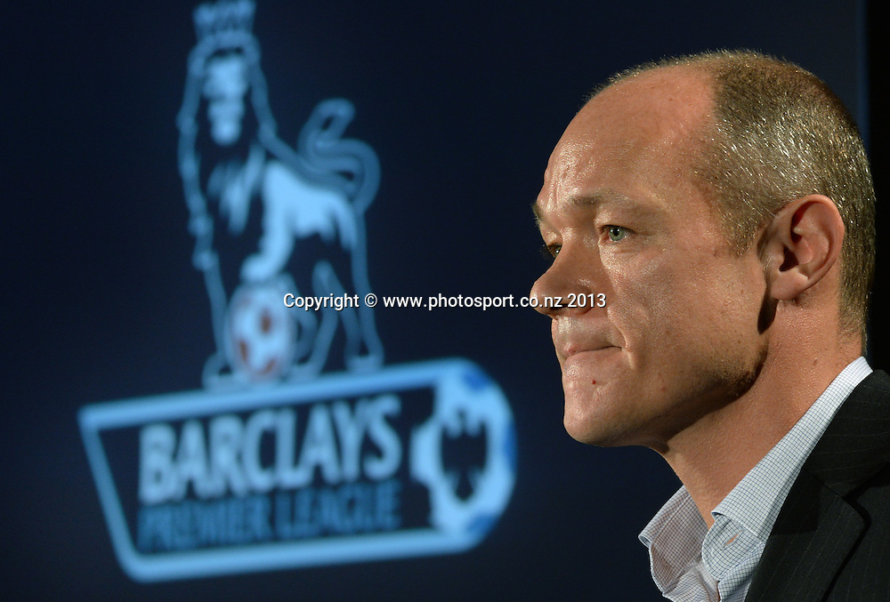 CEO of Coliseum Sports Media, Tim Martin during a press conference to announce a Three season TV and Internet rights deal for the Barclays Premier League. Auckland. New Zealand on Wedensday 19 June 2013. Photo: Andrew Cornaga/Photosport.co.nz