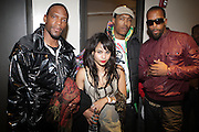 l to r: M1(Dead Prez), Zoe Kravitz, Umi(Dead Prez) and Stic Man(Dead Prez) at The ROOTS Present the Jam produced by Jill Newman Productions held at Highline Ballroom on April 29, 2009 in New York City