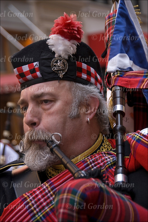 Scottish Americans showing their ethnic pride for the Tartan Day Parade 2011. Tartan Day , the nationally recognized holiday that honors Americans of Scottish heritage.