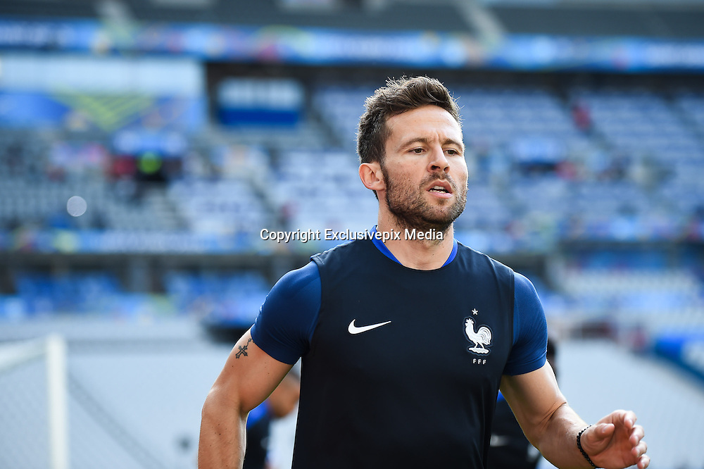 PARIS, FRANCE - JUNE 09: (CHINA OUT) Yohan Cabaye of France attends a training session on the eve of the beginning of the Euro 2016 European football championships football match against Romania at Stade de France stadium on June 9, 2016 in Saint-Denis near Paris, France. <br /> ©Exclusivepix Media