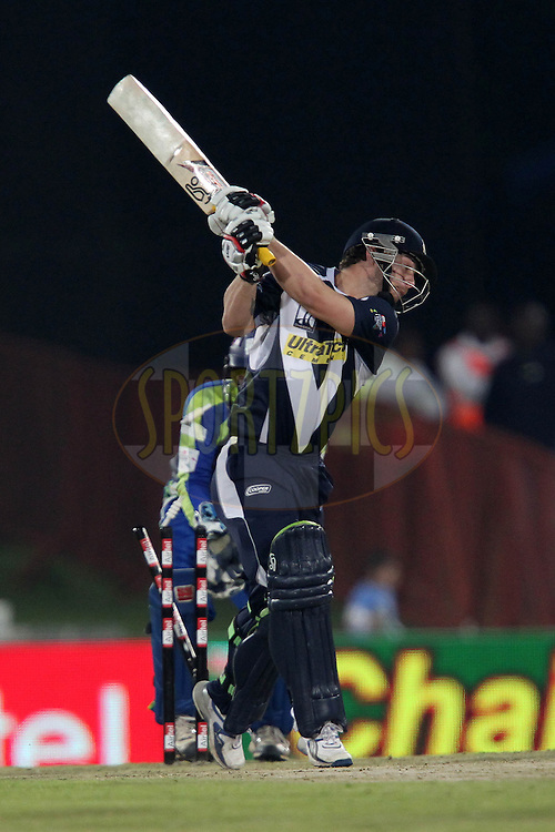 Matthew Wade of the Victorian Bushrangers is bowled by Isuru Udana of Wayamba Elevens during match 16 of the Airtel CLT20 held between the Victorian Bushrangers and the Wayamba Elevens at Supersport Park in Centurion on the 20 September 2010..Photo by: Ron Gaunt/SPORTZPICS/CLT20