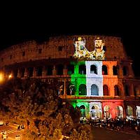 Il Colosseo per i due Marò