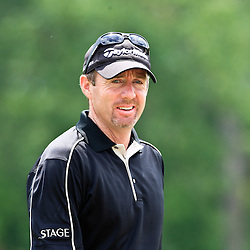 2009 April 26: Rod Pampling of Brisbane, Australia tee's off on the eighth hole during the final round of the Zurich Classic of New Orleans PGA Tour golf tournament played at TPC Louisiana in Avondale, Louisiana.