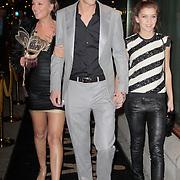 """NLD/Amsterdam/20111109- Boekpresentatie Saskia Noort """"Koorts"""", Saskia Noort met zoon Matthieu en dochter Julia"""