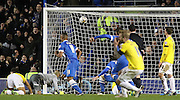 Brighton's Dale Stephens scores  during the Sky Bet Championship match between Brighton and Hove Albion and Derby County at the American Express Community Stadium, Brighton and Hove, England on 3 March 2015. Photo by Phil Duncan.