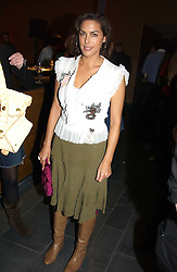 MISS JESSICA DE ROTHSCHILD at the launch party for 'The London Look - Fashion From Street to Catwalk' held at the Museum of London, London Wall, Londom EC2 on 28th October 2004<br />