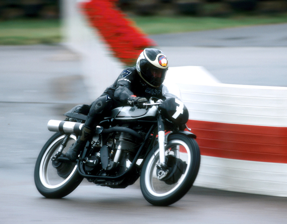 Norton Manx driven by Barry Sheene at Goodwood Revival Meeting 2002, UK