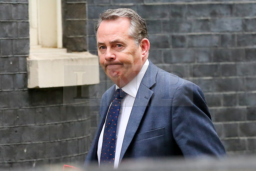 © Licensed to London News Pictures. 19/03/2019. London, UK. Liam Fox - Secretary of State for International Trade and President of the Board of Trade arrives in Downing Street for the weekly Cabinet meeting. Photo credit: Dinendra Haria/LNP