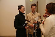 Adam Saletti and Rebecca Hytteng, ANNE CHU EXHIBITION PRIVATE VIEW, VICTORIA MIRO GALLERY, LONDON., 8 APRIL 2006. ONE TIME USE ONLY - DO NOT ARCHIVE  © Copyright Photograph by Dafydd Jones 66 Stockwell Park Rd. London SW9 0DA Tel 020 7733 0108 www.dafjones.com