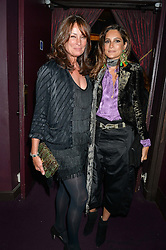 Left to right, TRICIA RONANE and ASTRID NOVILLO ASTRADA at Hoping's Greatest Hits - the 10th Anniversary of The Hoping Foundation's charity benefit held at Ronnie Scott's, 47 Frith Street, Soho, London on 16th June 2016.