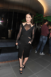 TALLULAH HARLECH at the launch of famed American fitness club 'Equinox' 99 High Street Kensington, London on 23rd October 2012.