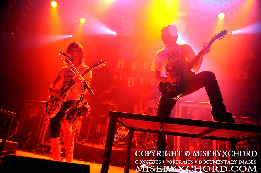 Pierce The Veil performing on the Taste of Chaos tour at The House of Blues in San Diego, California USA on February 18, 2009
