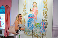 Teen girl shopping at Lilly Pulitzer, Metropolitan Museum of Art, and Times Square in Manhattan, New York City, New York, USA, on July 28, 2011.