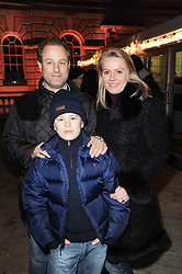 VISCOUNT & VISCOUNTESS CHELSEA and their son the HON.CHARLIE CADOGAN at Skate presented by Tiffany & Co at Somerset House, London on 22nd November 2010.