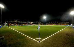 A general view of the ground before the Emirates FA Cup, fourth round match at Huish Park, Yeovil.