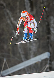 10.02.2014, Rosa Khutor Alpine Center, Krasnaya Polyana, RUS, Sochi 2014, Super-Kombination, Damen, Abfahrt, im Bild Marie-Michele Gagnon (CAN) // Marie-Michele Gagnon of Canada during the Downhill of the Women's Super Combined of the Olympic Winter Games 'Sochi 2014' at the Rosa Khutor Alpine Center in Krasnaya Polyana, Russia on 2014/02/10. EXPA Pictures © 2014, PhotoCredit: EXPA/ Johann Groder