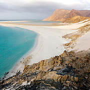 Ditwah lagoon near Qalansiyah, Socotra island, listed as World Heritage by UNESCO, Yemen, Arabia, West Asia