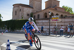 Lauren Kitchen (AUS) of FDJ Nouvelle Aquitaine Futuroscope Team leans into the final corner on Stage 1 of the Madrid Challenge - a 12.6 km team time trial, starting and finishing in Boadille del Monte on September 15, 2018, in Madrid, Spain. (Photo by Balint Hamvas/Velofocus.com)