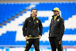 01.04.2014, Estadio Santiago Bernabeu, Madrid, ESP, UEFA CL, Real Madrid vs Borussia Dortmund, Viertelfinale, Hinspiel, im Bild Trainer Juergen Klopp (Borussia Dortmund) mit Co-Trainer Zeljko Buvac (Borussia Dortmund) // before the UEFA Champions League Round of 8, 1nd Leg match between Real Madrid and Borussia Dortmund at the Estadio Santiago Bernabeu in Madrid, Spain on 2014/04/01. EXPA Pictures &copy; 2014, PhotoCredit: EXPA/ Eibner-Pressefoto/ Schueler<br /> <br /> *****ATTENTION - OUT of GER*****