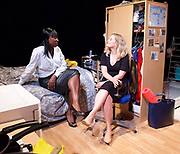 Touch <br /> by Vicky Jones <br /> at Soho Theatre, London, Great Britain <br /> press photocall 11th July 2017 <br /> <br /> Naana Agyei-Ampadu as Vera <br /> <br /> <br /> <br /> Amy Morgan as Dee <br /> <br /> <br /> <br /> <br /> Photograph by Elliott Franks <br /> Image licensed to Elliott Franks Photography Services