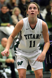 25 November 2014: Moly McGraw  during an NCAA women's division 3 CCIW basketball game between the Wisconsin Whitewater Warhawks and the Illinois Wesleyan Titans in Shirk Center, Bloomington IL