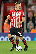 Southampton midfielder James Ward-Prowse (16) during the Premier League match between Southampton and Brighton and Hove Albion at the St Mary's Stadium, Southampton, England on 17 September 2018.