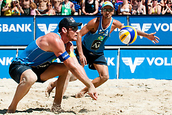 Emanuel Rego and Alison Conte Cerutti of Brazil at A1 Beach Volleyball Grand Slam tournament of Swatch FIVB World Tour 2010, bronze medal, on July 31, 2010 in Klagenfurt, Austria. (Photo by Matic Klansek Velej / Sportida)