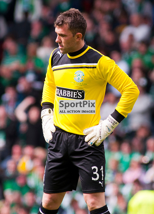 William Hill Scottish Cup Final, Hampden Park, Glasgow,19/05/12, .Hibs keeper Mark Brown looks dejected as the 2nd goal is scored