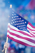 NASHVILLE, TN - OCTOBER 25:  American Flag being brought onto the field before a game between the Tennessee Titans and the Atlanta Falcons at Nissan Stadium on October 25, 2015 in Nashville, Tennessee.  The Falcons defeated the Titans 10-7.  (Photo by Wesley Hitt/Getty Images) *** Local Caption ***
