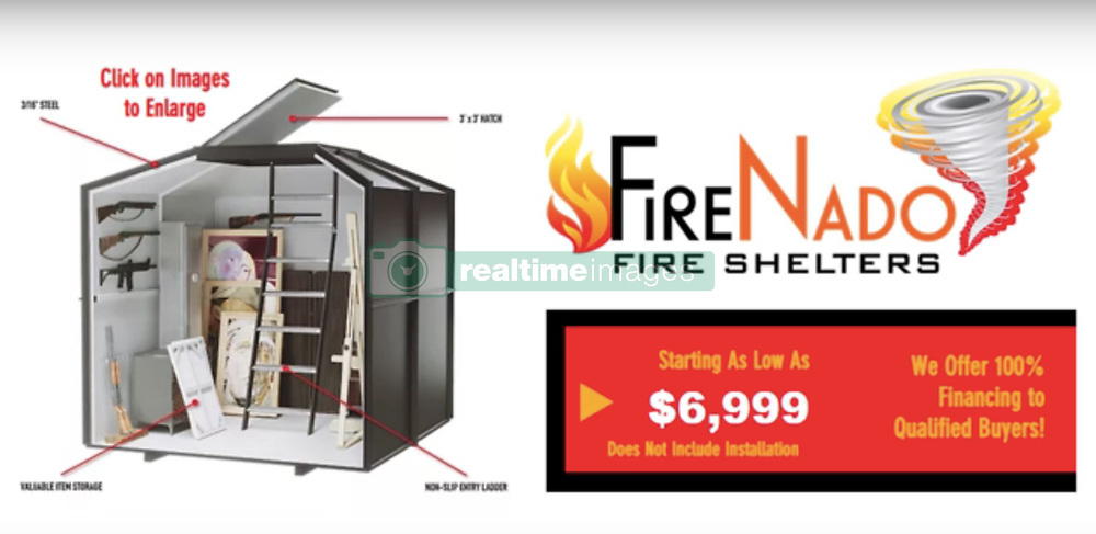 EXCLUSIVE: A company that makes underground nuclear shelters has now developed a fire bunker in the wake of the devastating California wildfires. California-based Atlas Survival Shelters is offering a range of subterranean airtight shelters that keep out killer carbon monoxide and can withstand temperatures of up to 1600F (870C). The GarNado shelter — which can protect from fire as well as nuclear fallout, earthquakes and tornadoes — starts at $20,000 for a two-person size and goes up to $50,000 for a 25-person model. Bunkers can be installed under the concrete foundations of a home when newly constructed, or sunk into the backyard for existing houses. The Montebello-based company also offers a smaller FireNado shelter, which is designed specifically to store possessions people want to protect in the event of a fire, with prices starting at $7,000. Owner Ron Hubbard said the shelters can buy occupants valuable time in a wildfire scenario and are fitted with either two or three hour fire-rated hatches and an air-tight door, providing enough natural clean air inside for the occupants for that period of time. He urged: 'If you live in an area threatened by wildfires and want to have a chance of surviving then do something about it. 'People need to be prepared and we also want to start a new way of thinking when it comes building and rebuilding houses in areas prone to wildfire.' The Northern California Camp Fire, which began in Butte County earlier this month has so far claimed the lives of 77 people, with 1,000 people still unaccounted for, making it the deadliest wildfire in California history. It is currently 66 per cent contained. Meanwhile the Southern California Woolsey Fire has left three dead and is now 94 per cent contained. All the shelters available are customizable and interiors can be fitted to various specs, including high-end luxury bunkers that come compete with sofas, double beds and kitchens. 20 Nov 2018 Pictured: Atlas Survival Shelters in