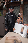 PETER MARINO, Y.Z. KAMI Book signing for Y.Z. Kami, , Bar Foscarini hosted by Gagosian, Opening of the Venice Biennale, Venice, 9 May 2019