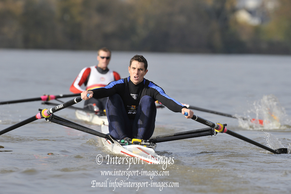 London GREAT BRITAIN, Wingfields  George WHITTAKER, Imperial College sculler, on  the Championship Course,   Putney to Chiswick, River Thames, [Photo, Peter Spurrier/Intersport-images] .. Rowing Course: River Thames, Championship course, Putney to Mortlake 4.25 Miles,