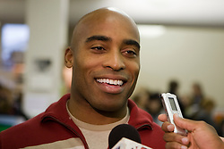 "Former New York Giants and Virginia Cavaliers running back Tiki Barber returned to his alma mater to promote his new book ""Tiki: My Life in the Game Beyond"".  The book signing was held at the University of Virginia Bookstore in Charlottesville, VA on October 26, 2007."