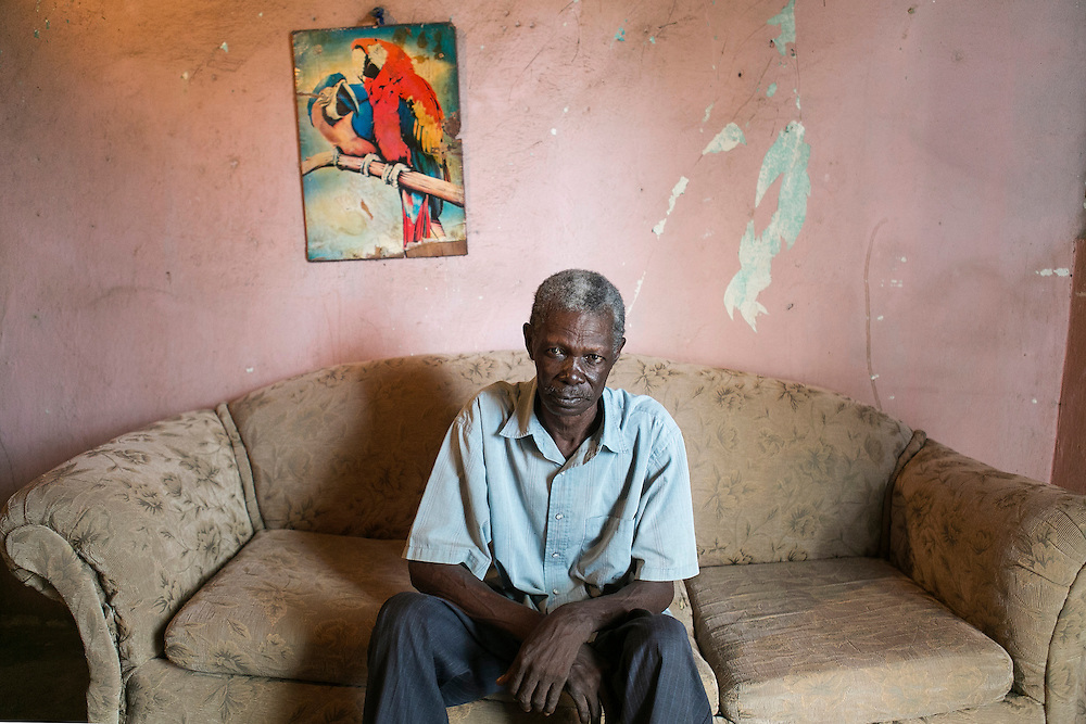 Domingo Juan, 65, has been waiting four years for his pension. Juan lost his papers in Hurricane Georges and says he has no way of getting them straightened out. &ldquo;Whoever doesn&rsquo;t have money is imprisoned,&rdquo; he says. Juan's neighbors have been taking care of him since his wife died in 2014. <br /> Here he is pictured in his home on Monday, Aug. 24, 2015 in Batey Monte Coca, Dominican Republic.<br /> (Michelle Kanaar/ For the Miami Herald)<br /> Publication Date: Oct. 21, 2015