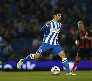 Joao Carlos Teixeira, Brighton midfielder during the Sky Bet Championship match between Brighton and Hove Albion and Bournemouth at the American Express Community Stadium, Brighton and Hove, England on 10 April 2015.