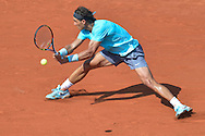 Rafael Nadal from Spain competes in men's single third round while Day Seventh during Roland Garros 2014 at Roland Garros Tennis Club in Paris, France.<br /> <br /> France, Paris, May 31, 2014<br /> <br /> Picture also available in RAW (NEF) or TIFF format on special request.<br /> <br /> For editorial use only. Any commercial or promotional use requires permission.<br /> <br /> Mandatory credit:<br /> Photo by © Adam Nurkiewicz / Mediasport