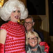 NLD/Amsterdam/20150128 - Boekpresentatie Willeke Alberti, Jeroen Krabbe en partner Herma met Dolly Bellefleur