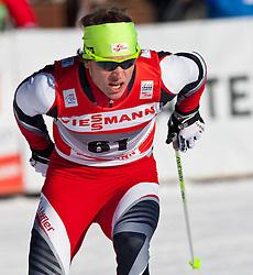 05.01.2011, Nordic Arena, Toblach, ITA, FIS Cross Country, Tour de Ski, Qualifikation Sprint Women and Men, im Bild Bernhard Tritscher (AUT, #61). EXPA Pictures © 2011, PhotoCredit: EXPA/ J. Groder