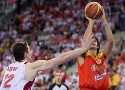 Ricky Rubio of Spain during the EuroBasket 2009 Group F match between Spain and Turkey, on September 12, 2009 in Arena Lodz, Hala Sportowa, Lodz, Poland.  (Photo by Vid Ponikvar / Sportida)