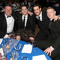 St Johnstone FC Scottish Cup Celebration Dinner at Perth Concert Hall...01.02.15<br /> Pictured from left, George Browning, Ewan Peacock, Brian Graham and Brian Easton.<br /> Picture by Graeme Hart.<br /> Copyright Perthshire Picture Agency<br /> Tel: 01738 623350  Mobile: 07990 594431