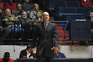 """Ole Miss head basketball coach Andy Kennedy vs. SMU at the C.M. """"Tad"""" Smith Coliseum in Oxford, Miss. on Tuesday, January 3, 2012. Ole Miss won 50-48."""