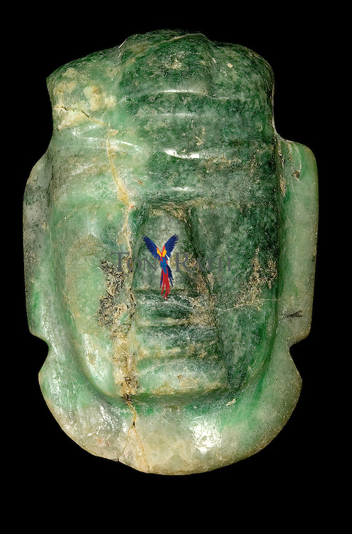 Olmecoid jade pendant from Nomul, Belize