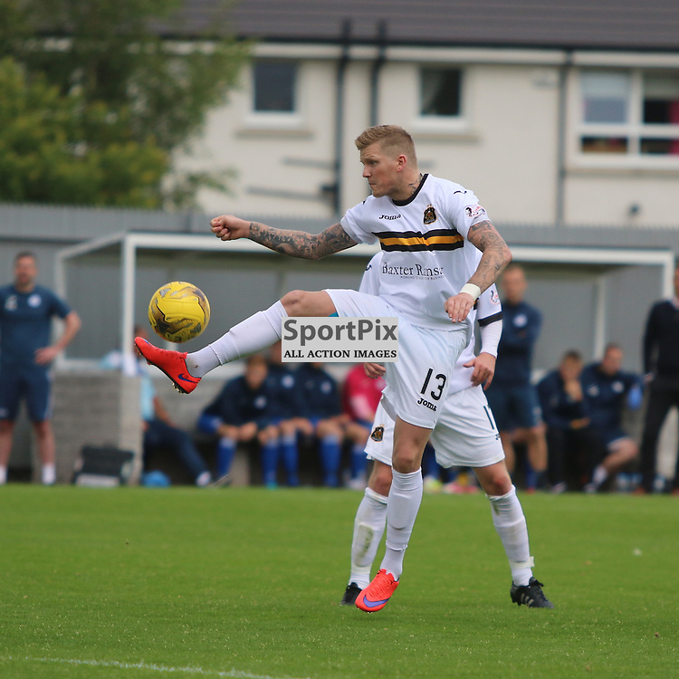 Willie Gibson tries to make things happen in midfield  during the Dumbarton FC V Queen of the South FC Scottish Championship 22th August 2015 <br /> <br /> (c) Andy Scott | SportPix.org.uk