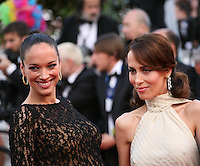 Carmen Chaplin and Dolores Chaplin at the gala screening Madagascar 3: Europe's Most Wanted at the 65th Cannes Film Festival. On Friday 18th May 2012 in Cannes Film Festival, France.