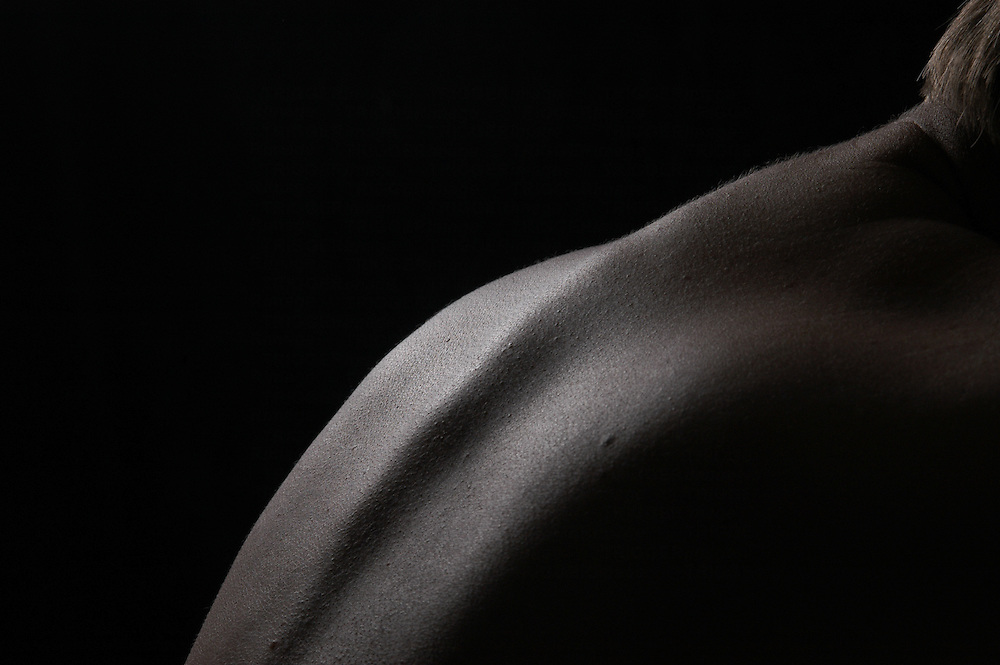 Soft light on a womans back