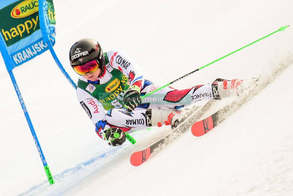 March 9, 2019 - Kranjska Gora, Kranjska Gora, Slovenia - Leo Anguenot  of France in action during Audi FIS Ski World Cup Vitranc on March 8, 2019 in Kranjska Gora, Slovenia. (Credit Image: © Rok Rakun/Pacific Press via ZUMA Wire)