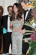 12.SEPTEMBER.2013. LONDON<br /> <br /> PRINCE WILLIAM AND CATHERINE DUCHESS OF CAMBRIDGE LEAVING THE TUSK CONSERVATION AWARDS. KATE WAS WEARING A DRESS BY JENNY PACKMAN<br /> <br /> BYLINE: EDBIMAGEARCHIVE.CO.UK<br /> <br /> *THIS IMAGE IS STRICTLY FOR UK NEWSPAPERS AND MAGAZINES ONLY*<br /> *FOR WORLD WIDE SALES AND WEB USE PLEASE CONTACT EDBIMAGEARCHIVE - 0208 954 5968*